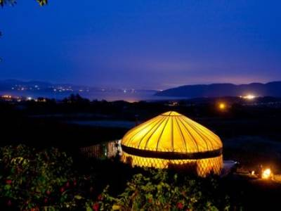 Coast view Irish yurt