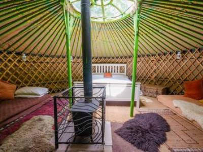 The Oak Yurt at Woodlands Farm