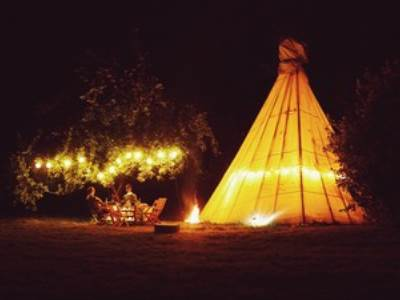 4 Person Tipi White House on Wye Glamping