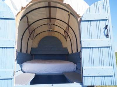 Blue Jay Wagon at West Kellow Yurts