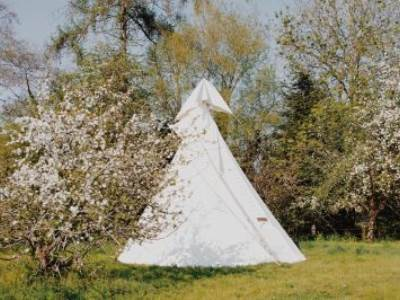 Large luxury tipi for 5 people - Russet