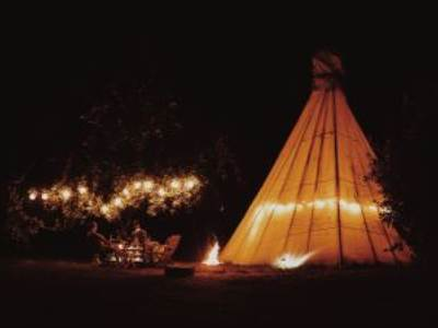 Large luxury tipi for 5 people - Rosie