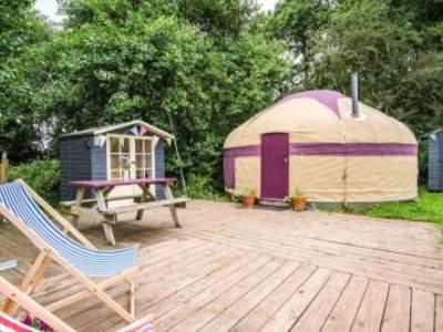 Barley Yurt at Wye Glamping - private facilities