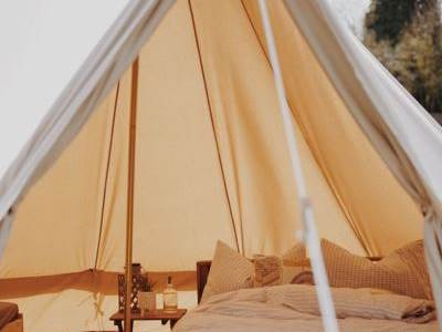 Rustic Glamping Bell Tent