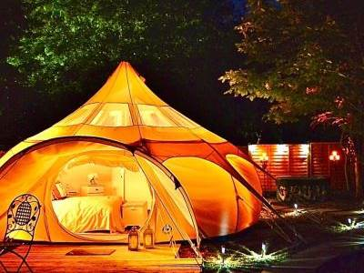 Apple Blossom Yurt at Walcot Hall Estate