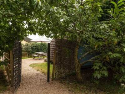 Small Garden Camping Pod at Sumners Ponds