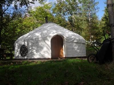 Woodpecker Yurt at Woodlands Farm