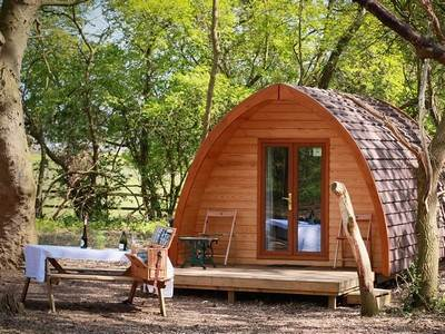 Mega Glamping Pod at West Stow Pods