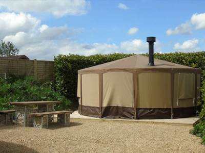 Mongolian Yurt at Upwood Holiday Park