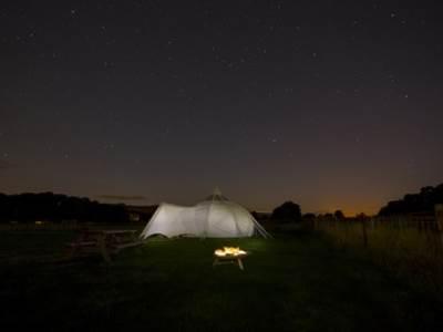 Stargazing Lotus Belle Tent Leekworth Caravan Park