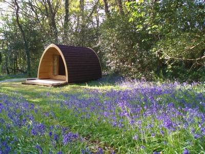 Electric Camping Huts at Ruthern Valley
