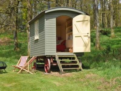 Shepherd's Hut at Church Stile Farm & Holiday Park