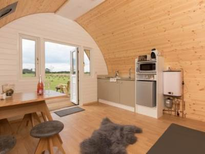 Muffin glamping pod at Bracken Burrows