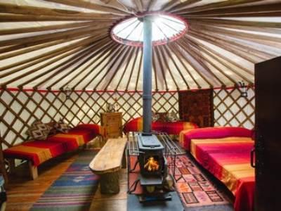 Mongolian Ger Yurt at Larkhill Tipis and Yurts