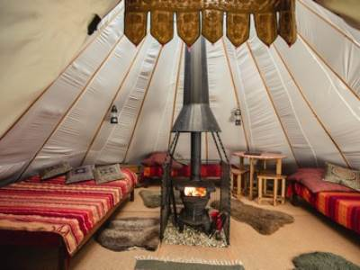 The Lavvu Tipi at Larkhill Tipis and Yurts