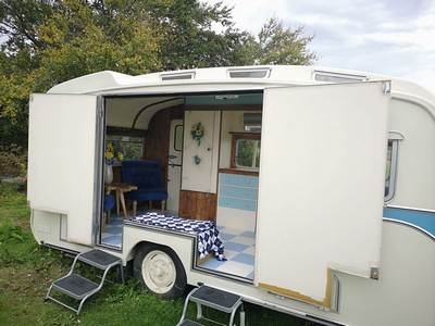 Rose Hippy Vintage Caravan at Balloch O'Dee