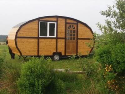 Bluebell vintage caravan at Balloch O'Dee Campsite