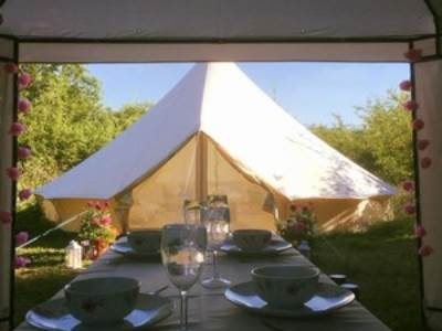 Glamping in Luxury Bell Tents at The Apple Farm
