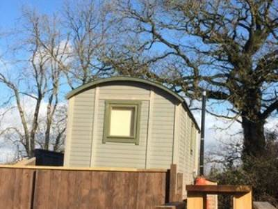 Crivens shepherd's hut at Leafy Fields Glamping