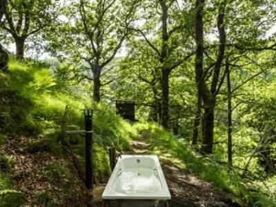 Waterfall Yurt at Eco Retreats forest retreat