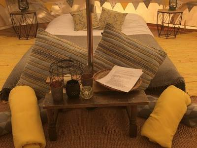 Sunny Afternoon Bell Tent at Gooseberry Field