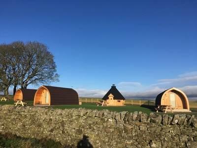 Wren Pod (Sleeps 4) at GlamPods Northumberland
